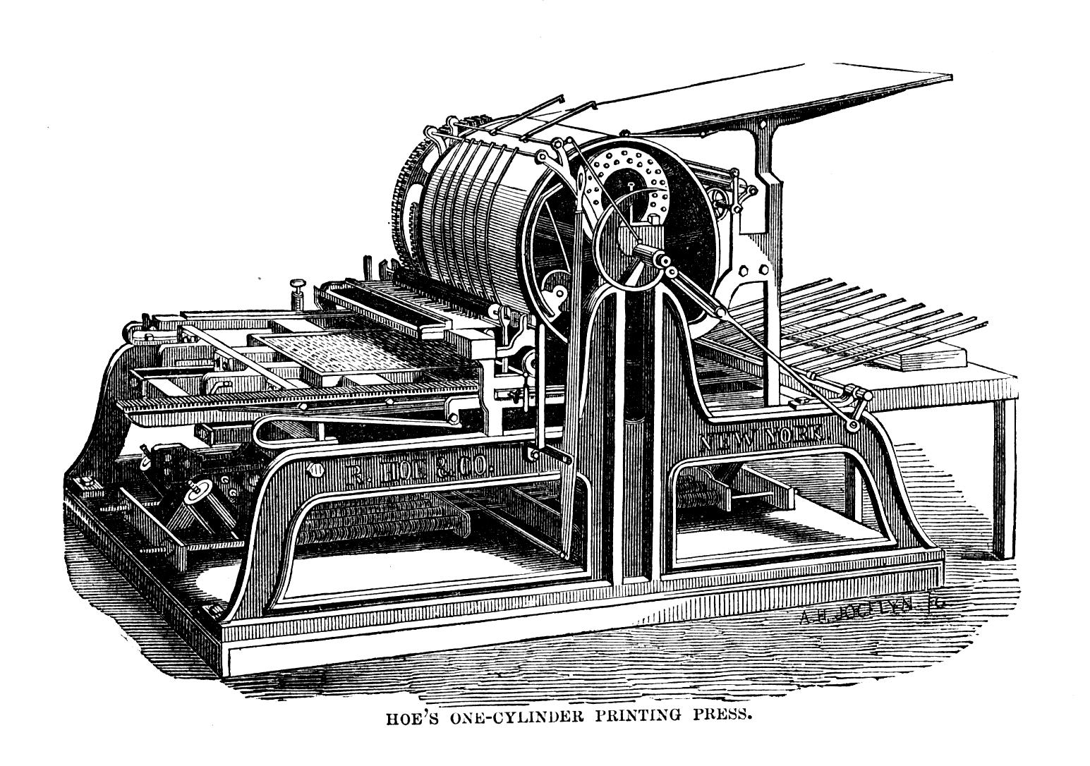 cranston drum cylinder press 1890s
